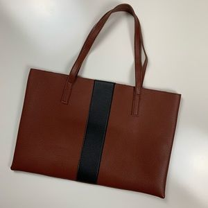 Vince Camuto Vegan Leather Brown and Black Tote